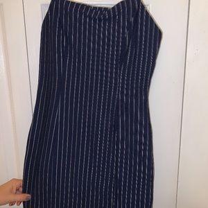 Blue striped forever 21 dress